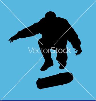 Free skater kick flip vector - Free vector #271069