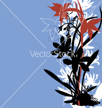 Free oriental tropical floral border vector - Free vector #271149