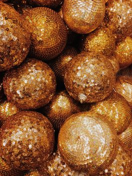 Gold Christmas balls texture - Free image #271749