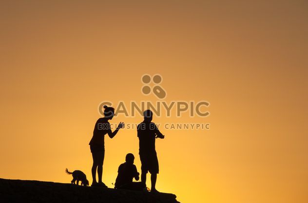 Силуэты на закате - бесплатный image #271879