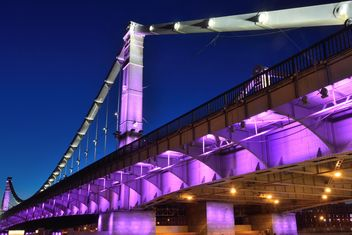 Crimean bridge in Moscow at night - бесплатный image #271969