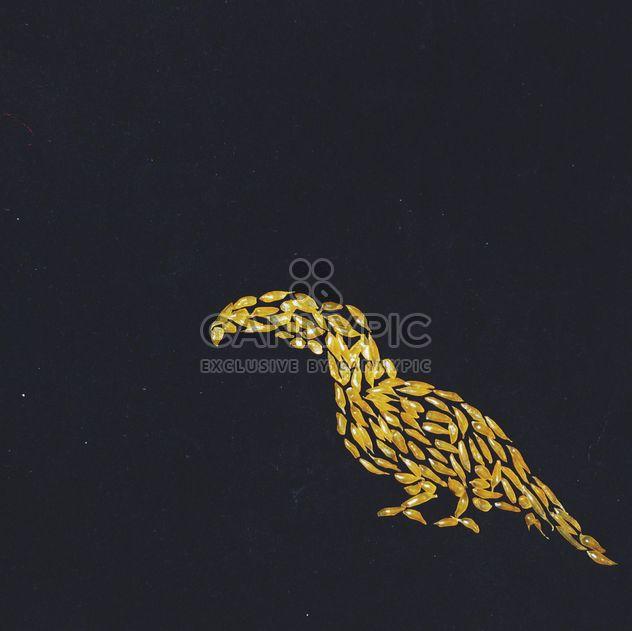 Tukan hergestellt aus Saft Tüten auf schwarzem Hintergrund - Kostenloses image #272269