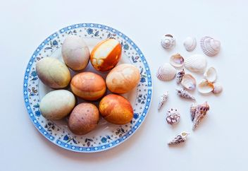 Easter eggs and seashells - image gratuit #272339