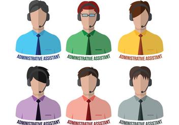 Administrative Assistant Vectors - Free vector #272359