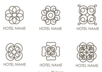 Floral Ornament Hotel Logo Vectors - Kostenloses vector #272389