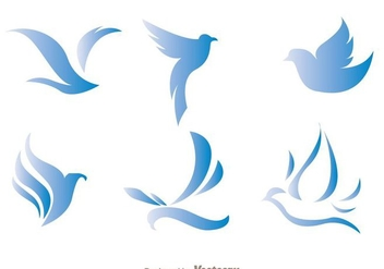 Blue Bird Logo Vectors - бесплатный vector #272419