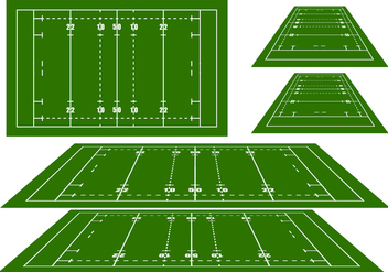 Rugby Arena Vectors - Free vector #272429