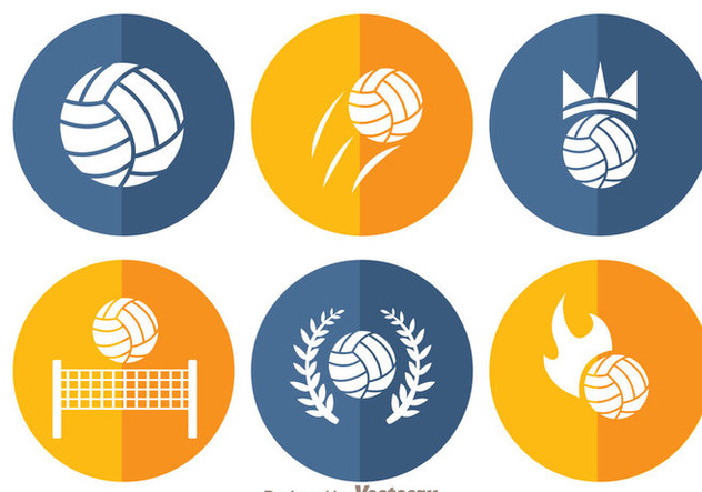 Volleyball Circle Icons - vector gratuit(e) #272459