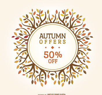 Autumn sale badge - Free vector #272489