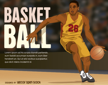 Basketball player - Free vector #272499