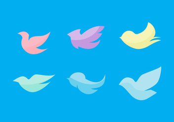 Free Flat Birds Vector Set - Kostenloses vector #272639