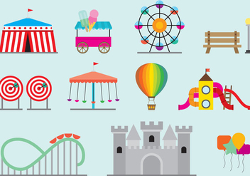 Amusement Park Vectors - бесплатный vector #272719