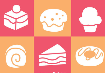 Cake White Icons - vector #272819 gratis