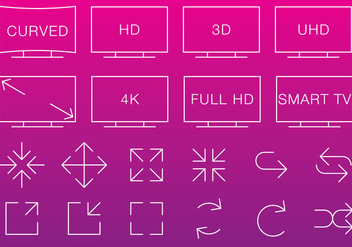 Video & Multimedia Thin Icons - бесплатный vector #272869