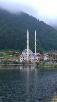 Mosque with twin minarets - бесплатный image #273019