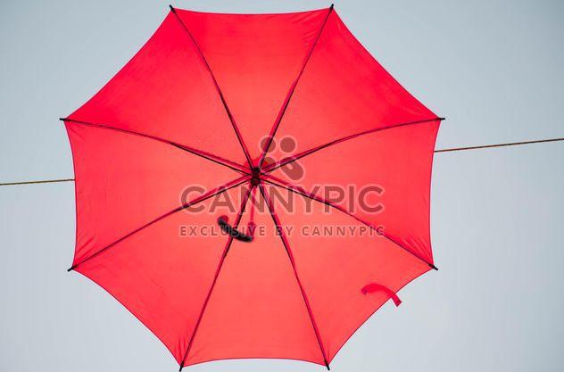 Red umbrella hanging - Free image #273079