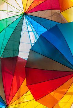 Rainbow umbrellas - image #273139 gratis