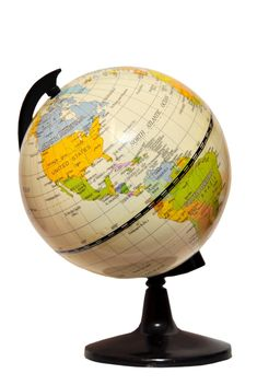 Terrestrial globe isolated on white background - image gratuit(e) #273209