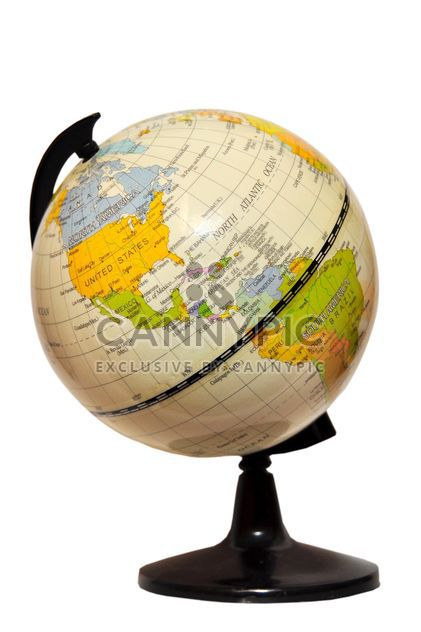 Terrestrial globe isolated on white background - Free image #273209