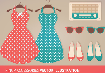 Pinup Vector Accessories - vector #273229 gratis