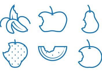 Fruit Bite Vectors - Free vector #273249