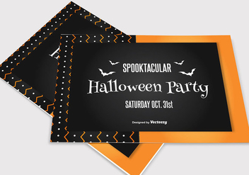 Simple Halloween Card - vector gratuit #273279