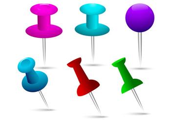 Thumb Tack Vectors - Free vector #273309