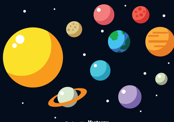 Solar System Vector - бесплатный vector #273349