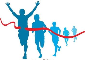 Marathon Runner Vector - Free vector #273379