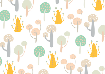 Abstract tree shape pattern - vector gratuit #273439