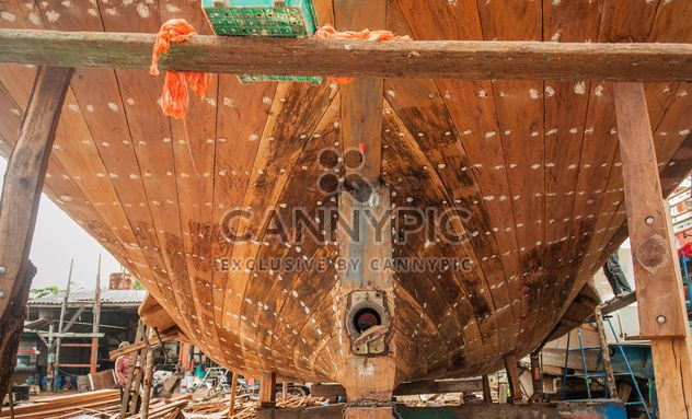 restoration of fishing boat - Free image #273589