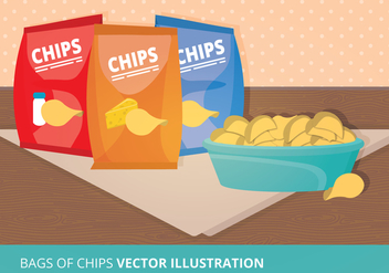 Bags of Chips Vector Illustration - Free vector #273959