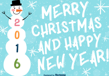 Merry christmas and happy new year background - Free vector #273979
