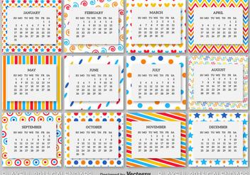 2016 calendar template - бесплатный vector #273999