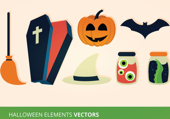 Halloween Elements Vector Illustration - Free vector #274009