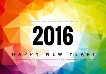 Colorful happy new year 2016 - vector gratuit #274079