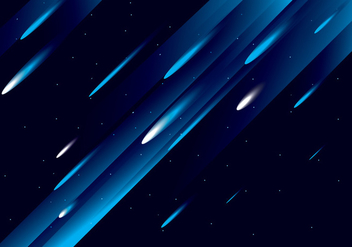 Meteor Shower Vector - Free vector #274089