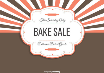 Bake Sale Background Illustration - Free vector #274189