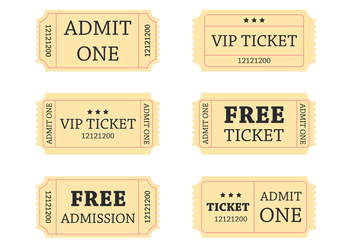 Retro Ticket - Free vector #274199