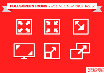 Full Screen Icons Free Vector Pack Vol 2 - vector #274449 gratis