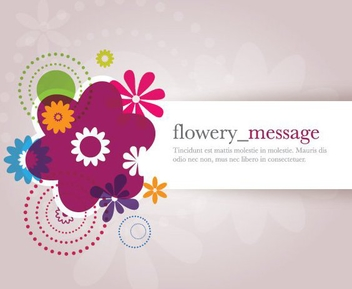 Colorful Flower Decoration Banner - vector gratuit(e) #274529