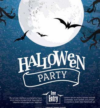 Halloween moon Poster - vector #274549 gratis