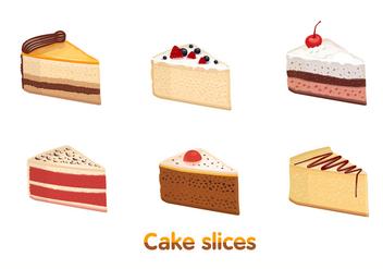 Cake Slice Vectors - Free vector #274609
