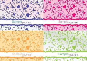 Colourful Flower Vector Cards - Free vector #274639
