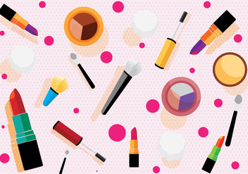 Makeup Pattern Vector - Free vector #274739