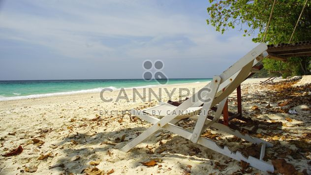 Beach bed at beach - Free image #275109