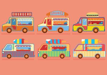 Food Truck Vectors - Free vector #275199