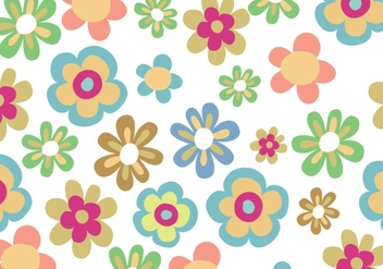 Seamless flower bloom pattern background - vector gratuit #275219