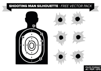 Shooting Man Silhouette Free Vector Pack - бесплатный vector #275229