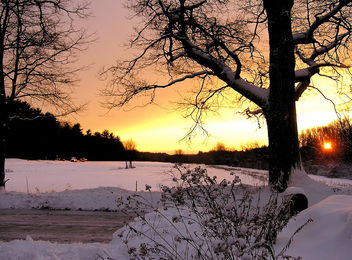snowy sunset - Free image #276129
